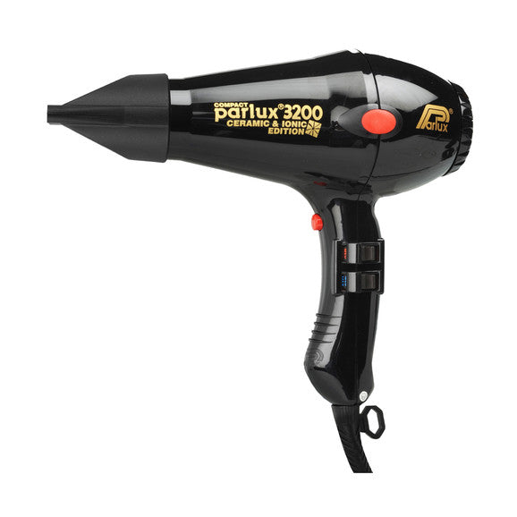 Parlux 3200 Ceramic and Ionic Hair Dryer 1900W Black