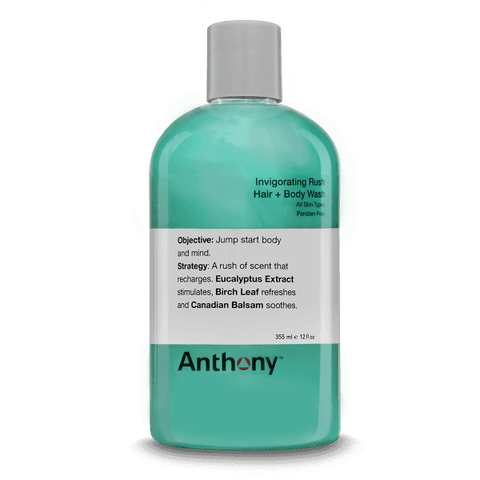 ANTHONY LOGISTICS INVIGORATING RUSH HAIR + BODY WASH – 355ML