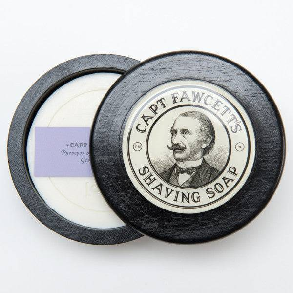 Captain Fawcett Shave Soap with wooden bowl
