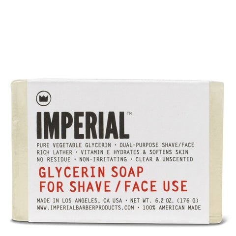 Imperial Glycerin Shave and Face Soap Bar 176g