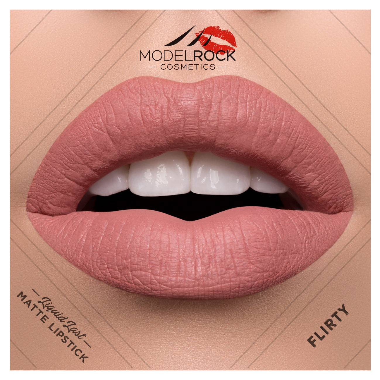 Model Rock Liquid to Matte Longwear Lipstick Flirty 3.5ml