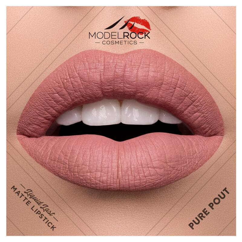 Model Rock Liquid to Matte Longwear Lipstick Pure Pout 3.5ml