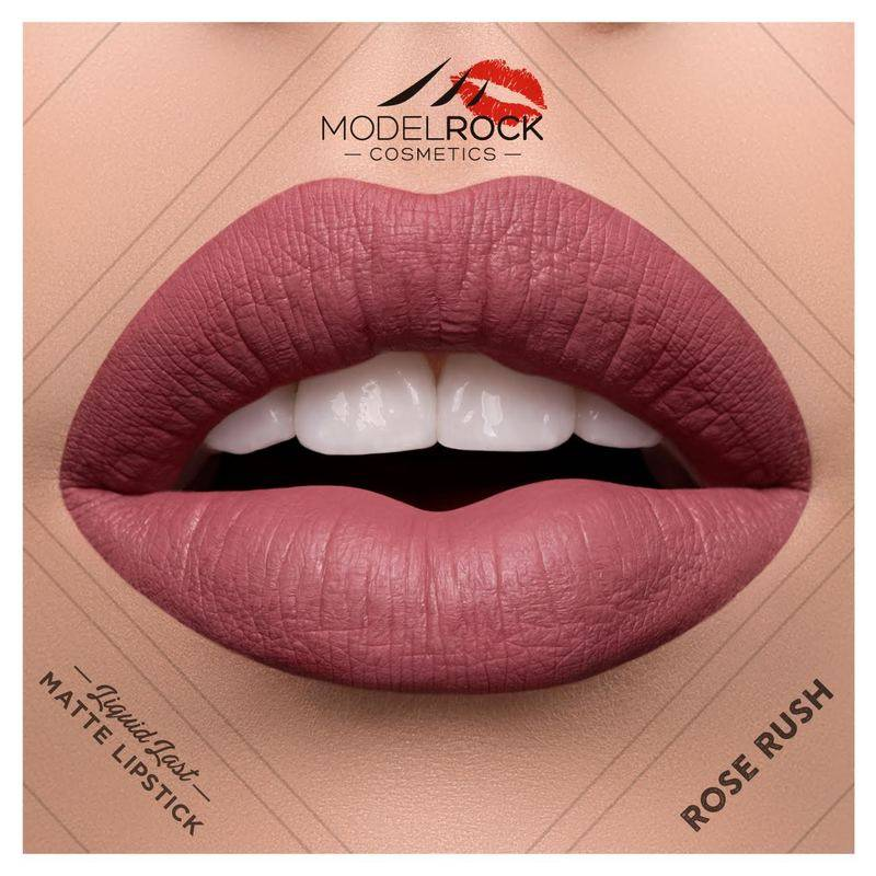 Model Rock Liquid to Matte Longwear Lipstick Rose Rush 3.5ml