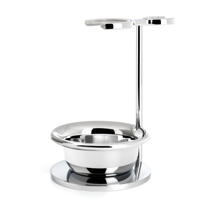 Muhle Brush and Razor Stand with Bowl Chrome Plated