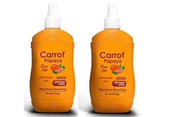 Carrot Sun Australia Papaya Tanning Oil 200ml Duo Pack