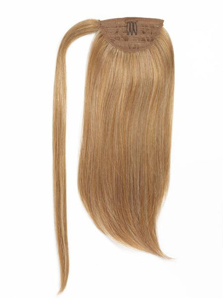 Showpony 18 Inch Human Hair Ponytail Wrap Pure Blonde