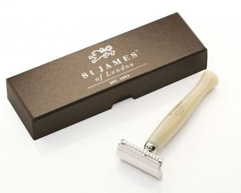 St James of London Cheeky Bstard DE Safety Razor Horn
