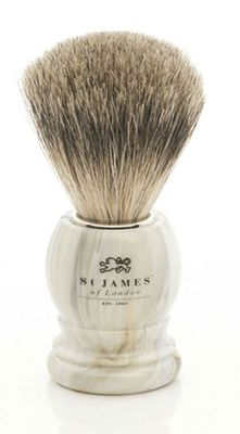 St James of London Alabaster Super Badger Brush