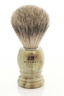 St James of London Malachite Super Badger Brush