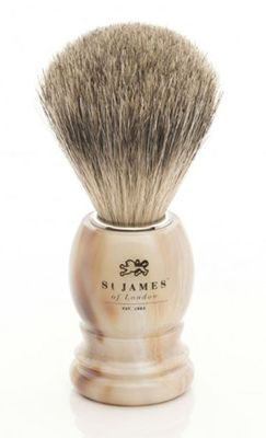 St James of London Tawny Super Badger Brush Horn
