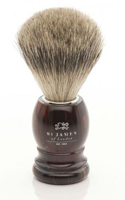 St James of London Tortoise Super Badger Brush