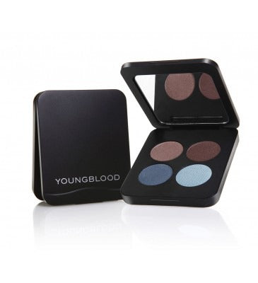 Youngblood pressed mineral eyeshadow quad 4g- glamour eyes