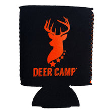 Load image into Gallery viewer, DEER CAMP® Coffee Pursuit™ Cooler Comrade™ Can Cooler (Black | Orange)