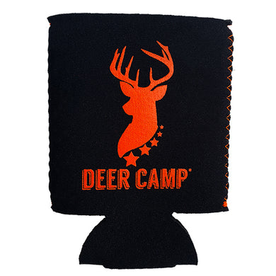 Deer Camp® Pursuit Cooler Comrade™ Can Cooler (Black | Orange)