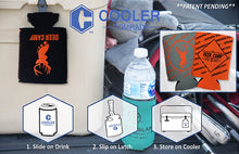 Load image into Gallery viewer, Deer Camp® Opening Day™ Cooler Comrade™ Can Coolers (Orange | Black)