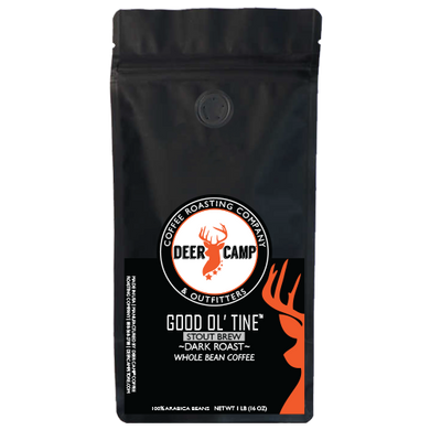 DEER CAMP® Coffee GOOD OL' TINE™ STOUT BREW 1 lb. Whole Bean