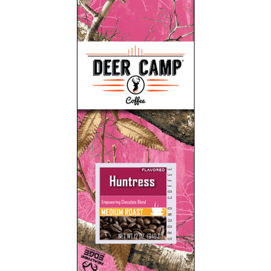 DEER CAMP® Coffee Huntress™ Chocolate Featuring Realtree EDGE™ Colors 12 oz Medium Roasted Ground Coffee