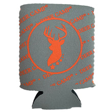 Load image into Gallery viewer, Deer Camp® Trophey Cooler Comrade™  Can Cooler(Grey | Orange)