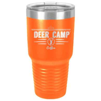 DEER CAMP® Coffee Logo 30 oz. Logo Beverage Tumbler With Lid (Orange)