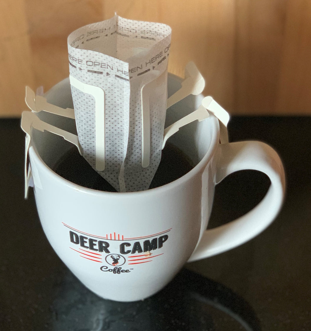 Deer Camp Coffee Pour Over Coffee Single Filter Pouch 10 Pk