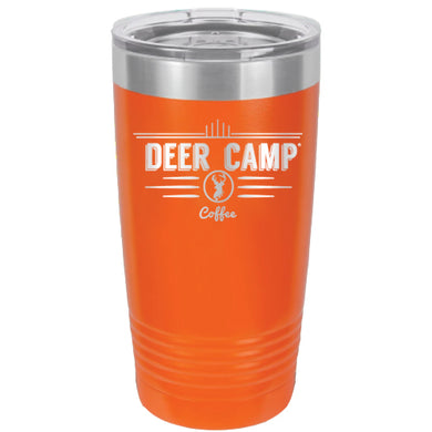 DEER CAMP® Coffee Logo 20 oz. Beverage Tumbler With Lid (Orange)