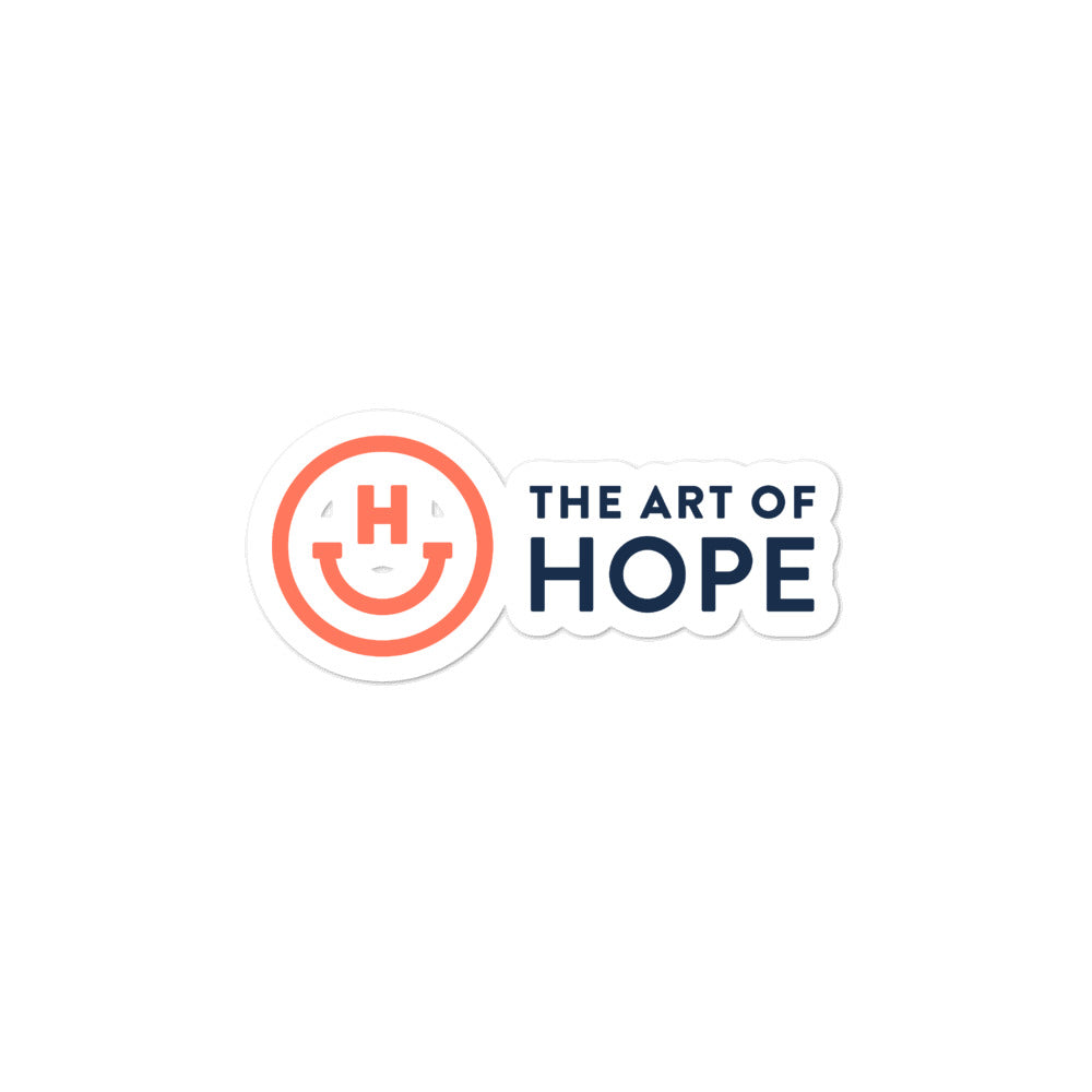 The Art of Hope Logo stickers