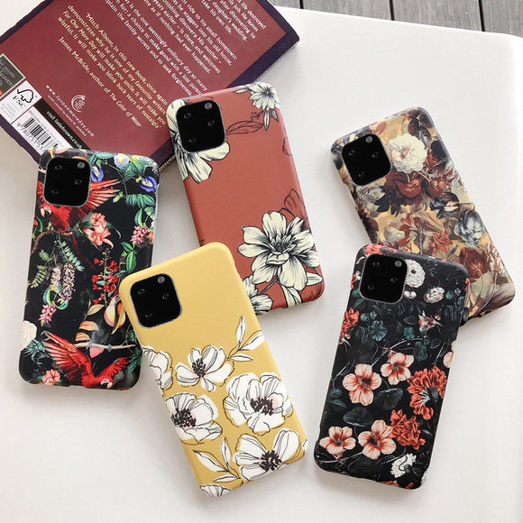 Retro Colorful Flower Phone Case For iPhone