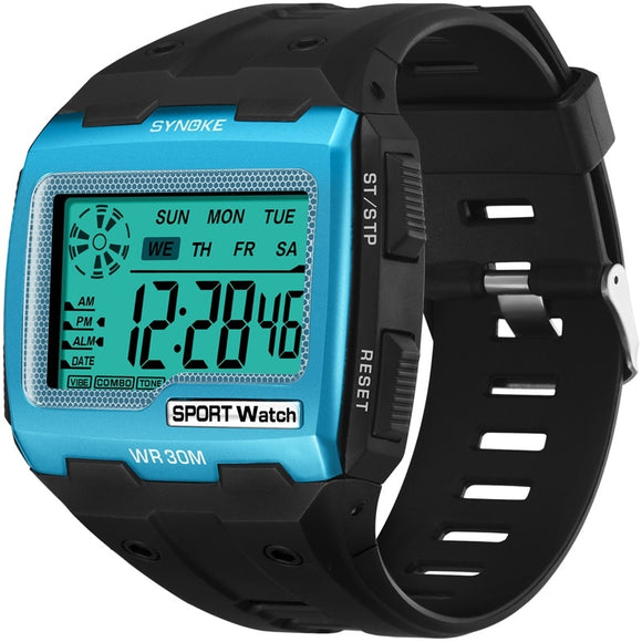 Shock Resistant Block Digital Watch