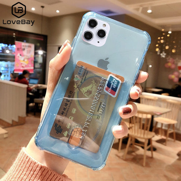 Transparent Card Holder Phone Case for iPhone