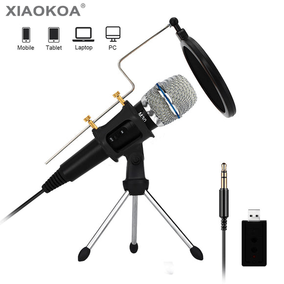 Condenser Recording Microphone for Computer Laptop Mac or Windows
