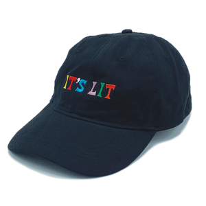 451a0de3192e4 Lit World Dad Hat - Black – The Artist Collective