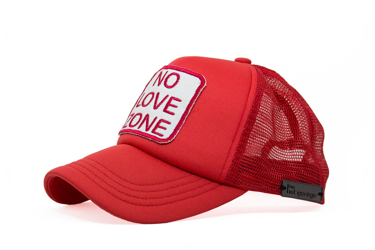 No Love Zone Trucker - Red & White