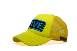Rave Trucker - Neon Yellow & Blue