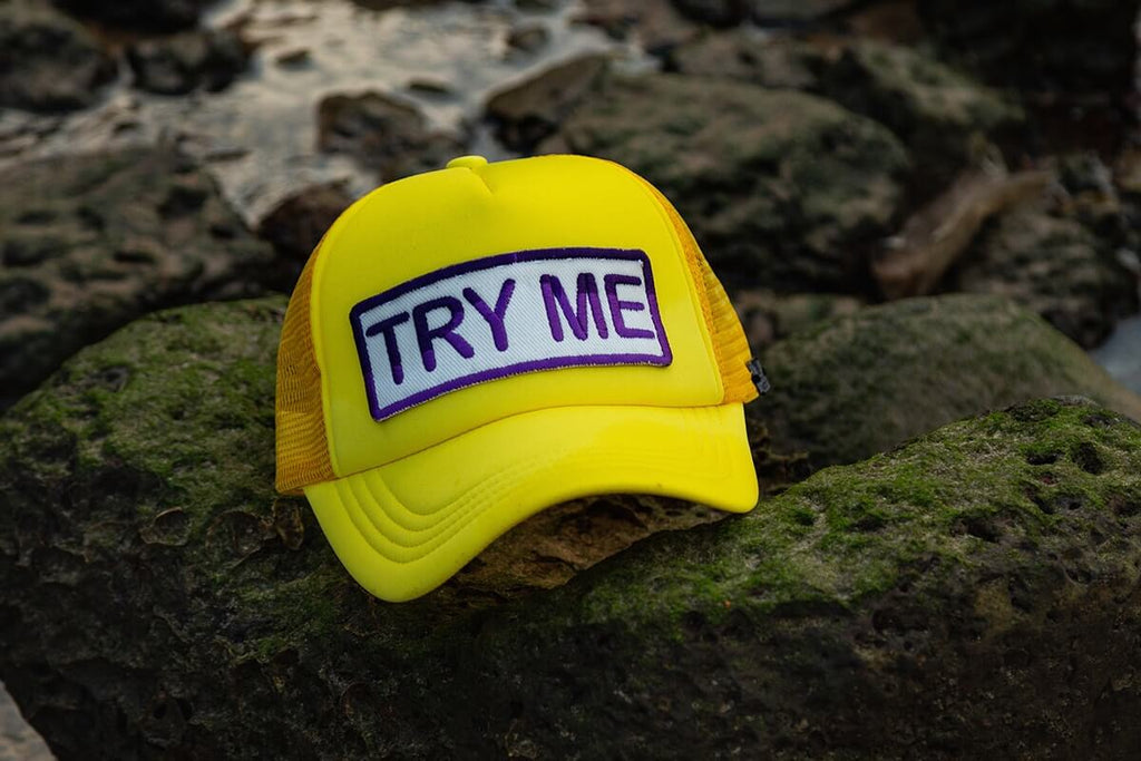 Try Me Trucker - Neon Yellow & Purple