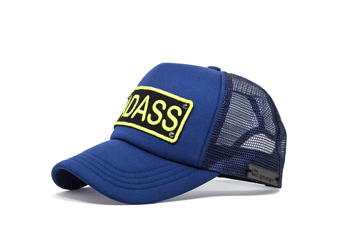 Badass Trucker - Nite Blue & Neon Yellow