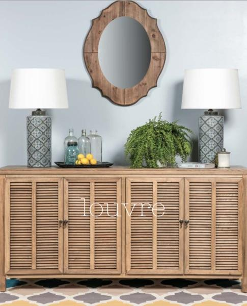 Louvre 4 Door Buffet - Elm