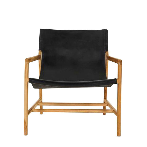 Leather Sling Chair - Black
