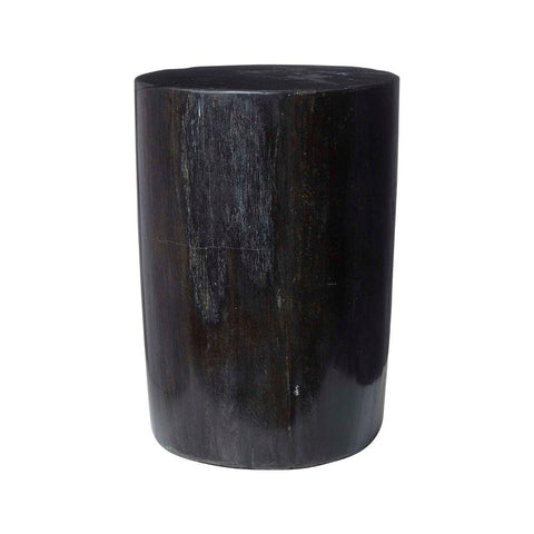 Petrified Wood Side Table - Black