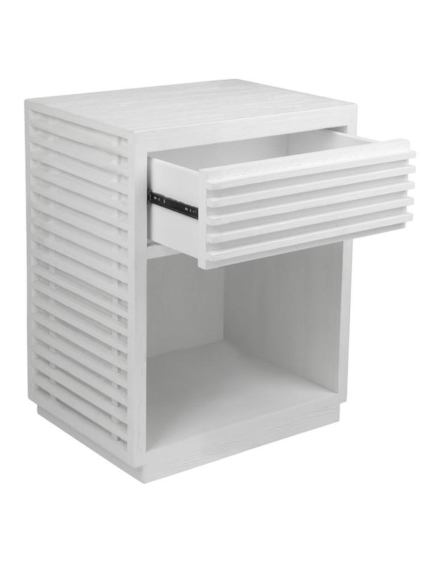 Bahama Bedside Table -  White