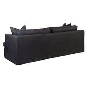Birkshire Slip Cover 3 Seater Sofa - Charcoal