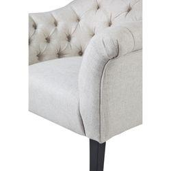 Georgina Button Tufted Occasional Chair - Natural