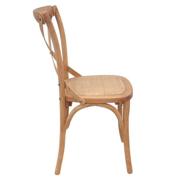 Crossback Chair - Set of 2 -Natural