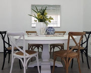 Crossback Carver Dining Chair White