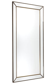 Zeta Floor Mirror - Antique Gold