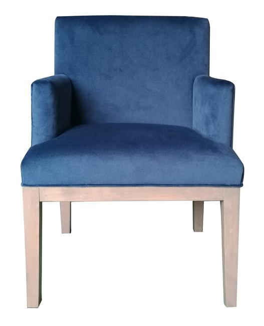 Brook Armed Dining Chair Royal Blue