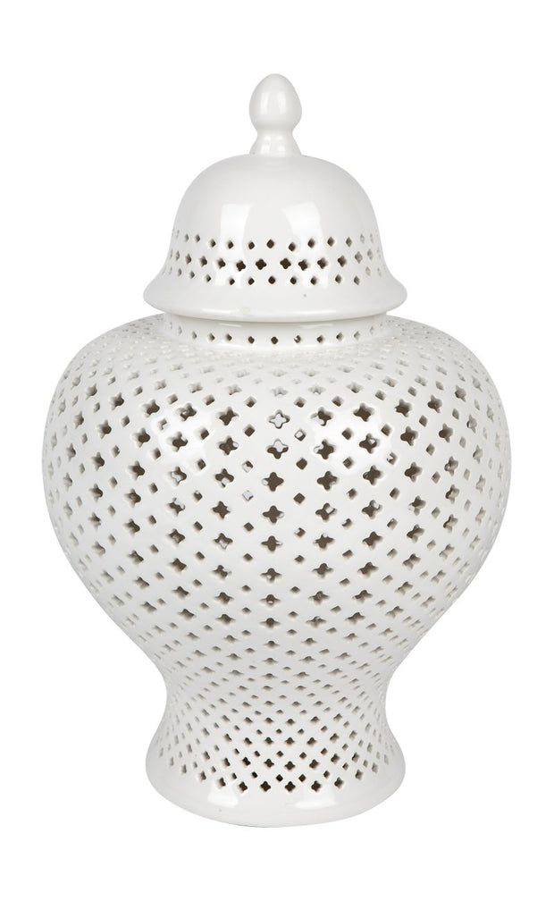 Minx Temple Jar - Medium White