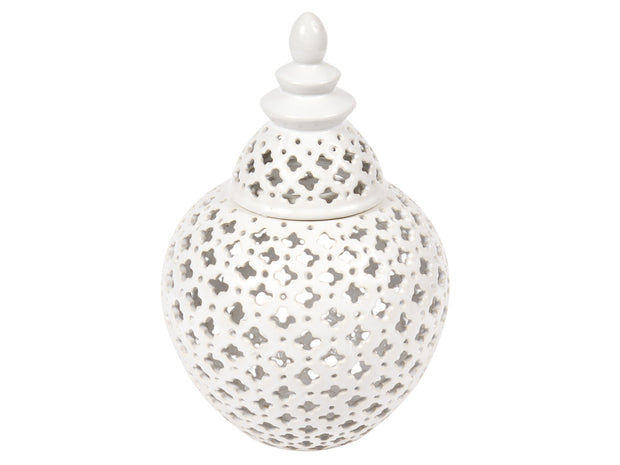 Miccah Temple Jar - Large White