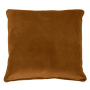 Tobago Square Feather Cushion - Tobacco Velvet