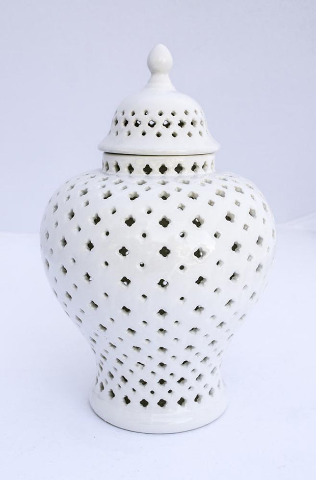 Minx Temple Jar - Extra Small White