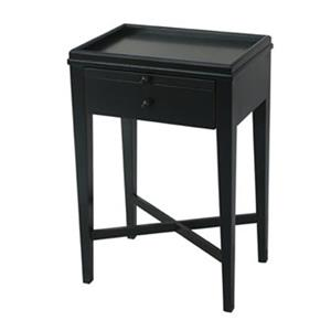 Saskia Black Bedside Table or Side Table